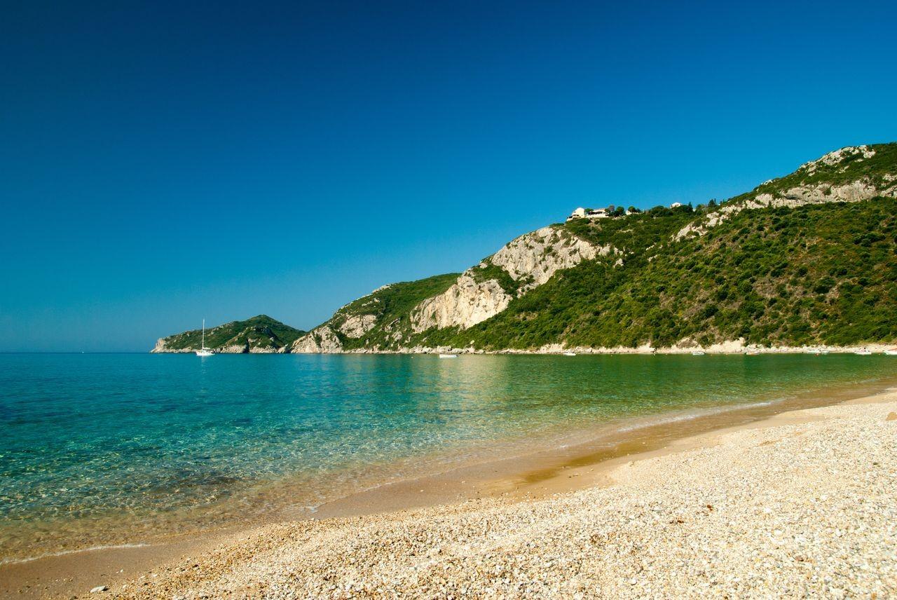 Agios Georgios Pagon Beach, Corfu, Ionian Islands, Greece