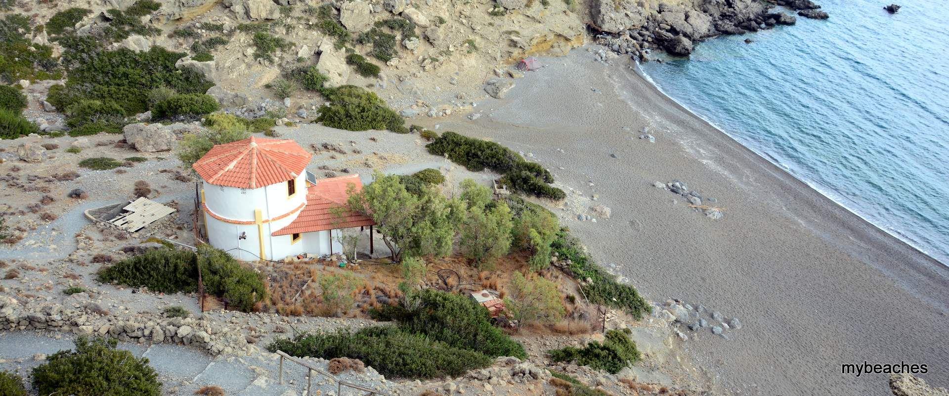 Ελυγιά, Παραλία στο Ηράκλειο Κρήτης